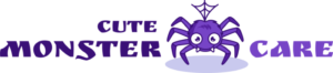 Cute monster care logo